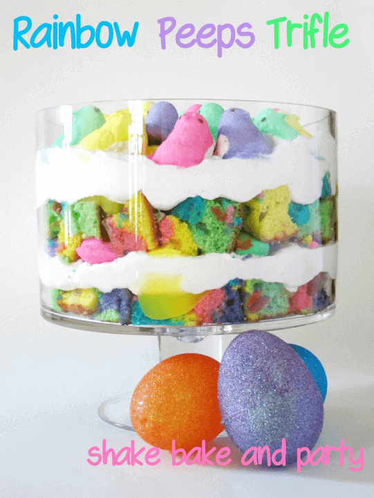 Rainbow PEEPS Trifle