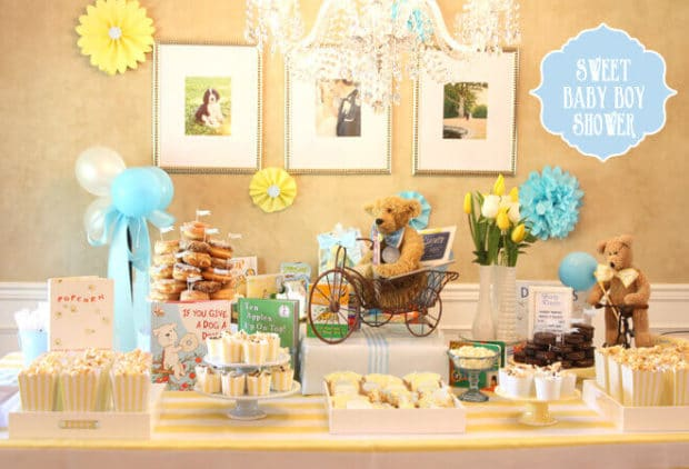 storybook themed baby boy shower
