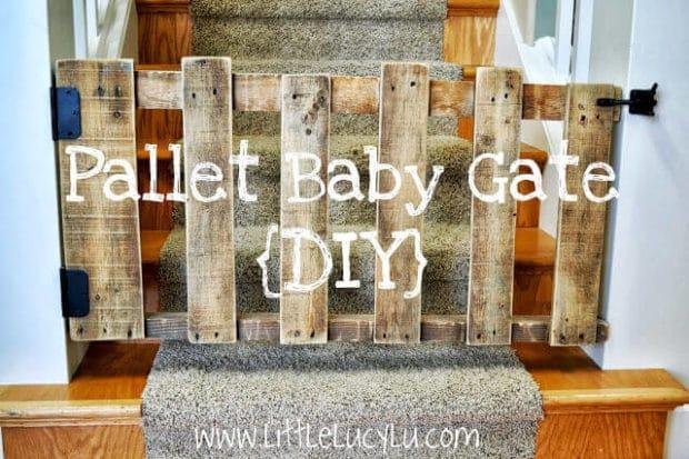 DIY Pallet Baby Gate