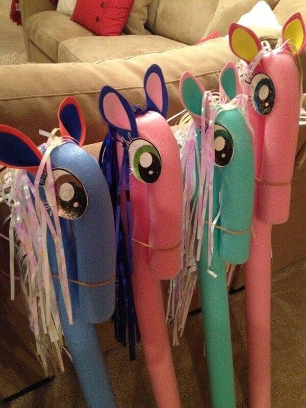 DIY Pool Noodle Ponies