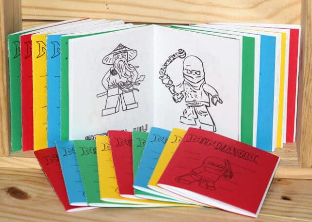 DIY Lego Ninjago Coloring Book Favors will make sure your guests leave with fond memories.