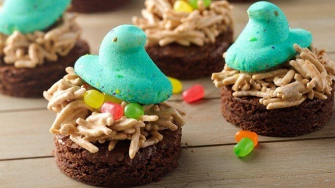 PEEPS Brownie Nests
