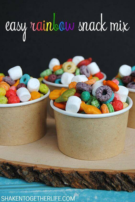 Easy Rainbow Snack Mix