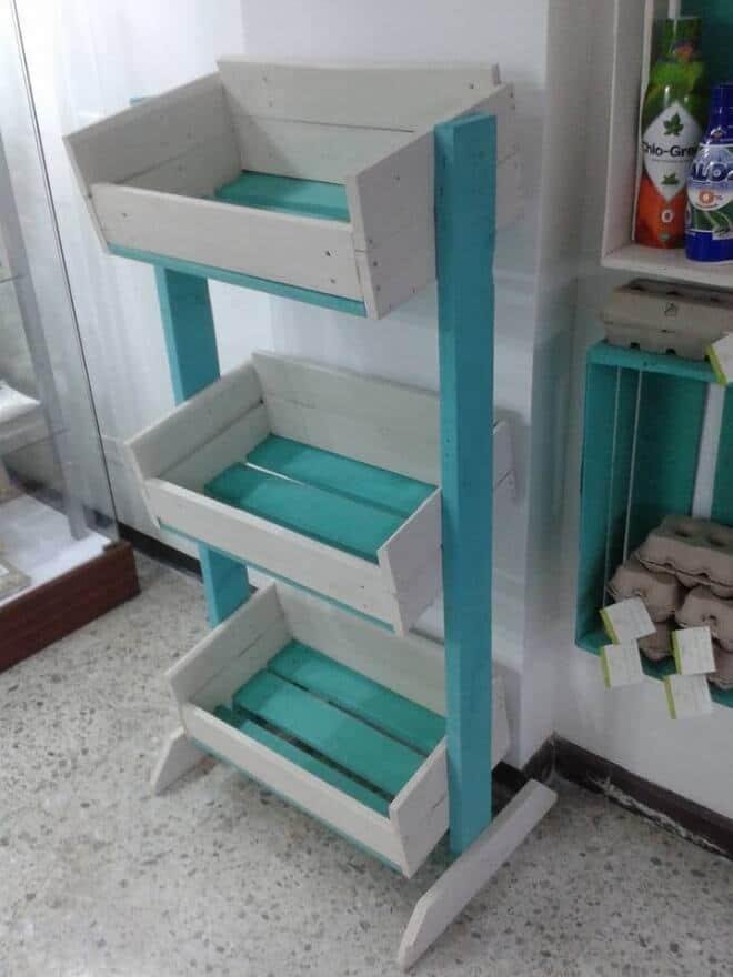 Make your own pallet Vegetable Storage Rack
