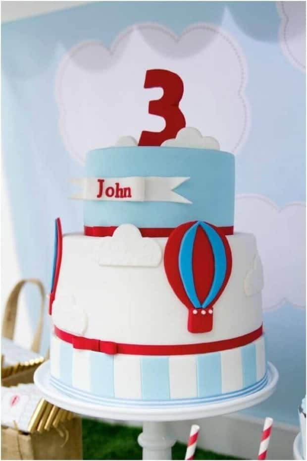 Cake Decorating Hot Air Balloon : 19 Hot Air Balloon Party Ideas Spaceships and Laser Beams