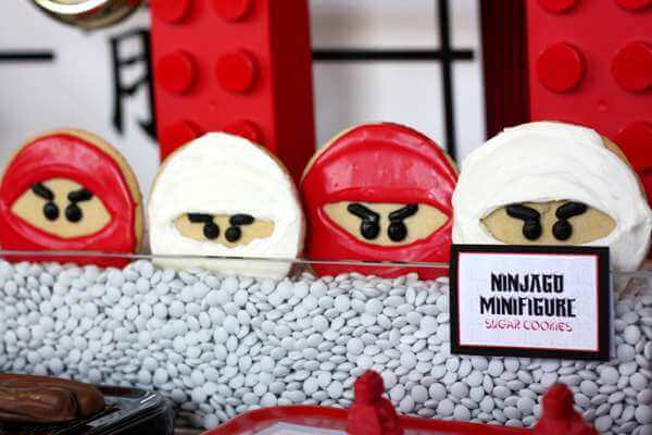 Ninjago Minifigure Sugar Cookies are easy to ice and delicious to eat.