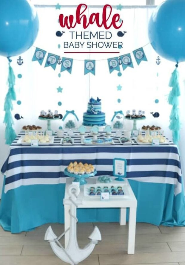 boys whale themed baby shower