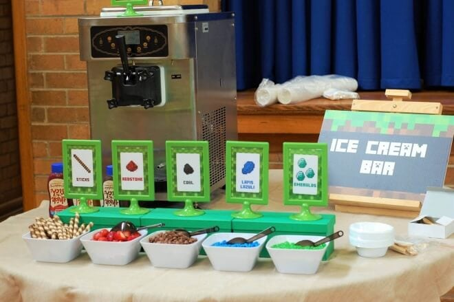 Boys Minecraft Ice Cream Station Bar Ideas