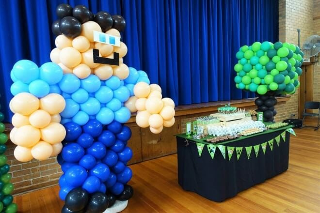 a well-built minecraft boy u2019s birthday party