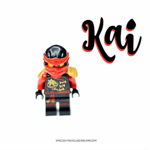 Kai from Ninjago is a great table decoration at a Lego Ninjago party