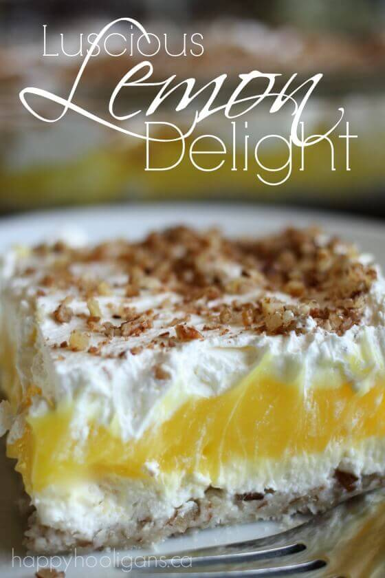 Luscious Lemon Delight Dessert