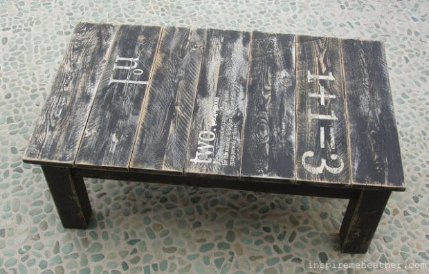 Make your own Pallet Wood Stenciled Table