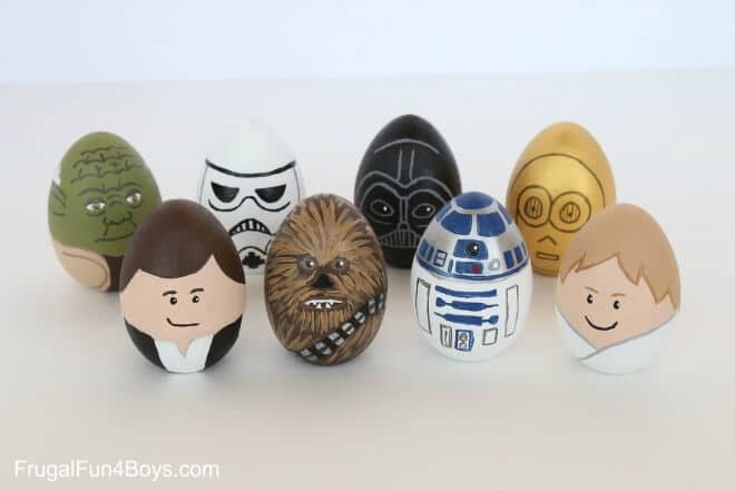 Star Wars Painted Easter Eggs