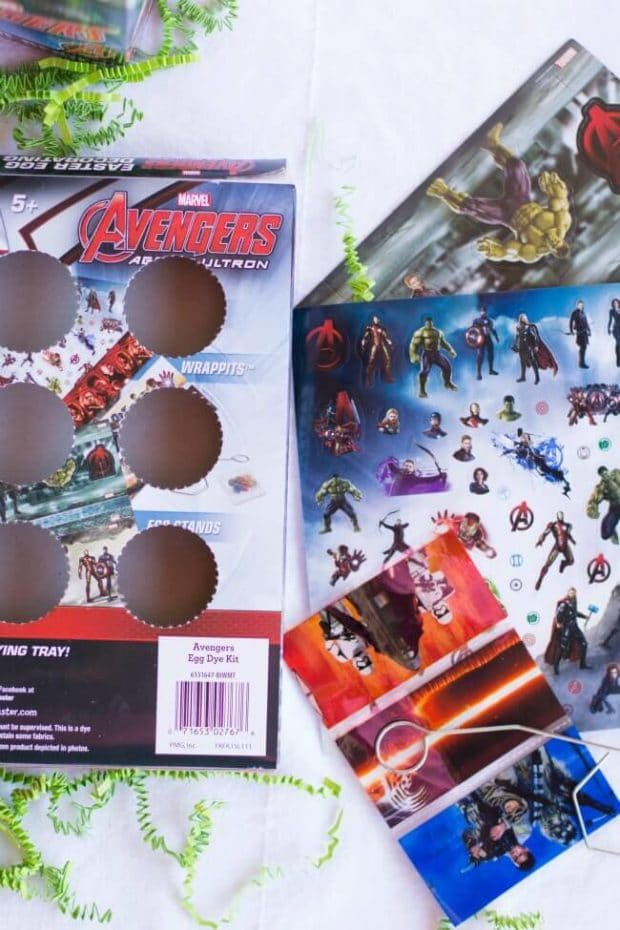 Easter Egg Decorating with Marvel Superheroes