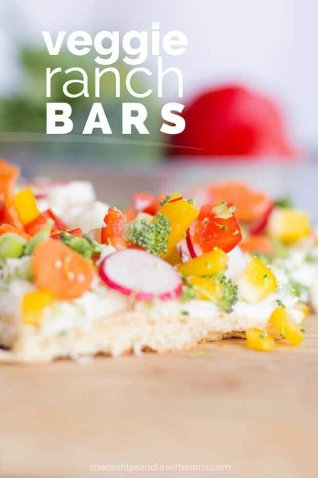 Easy Veggie Ranch Bars