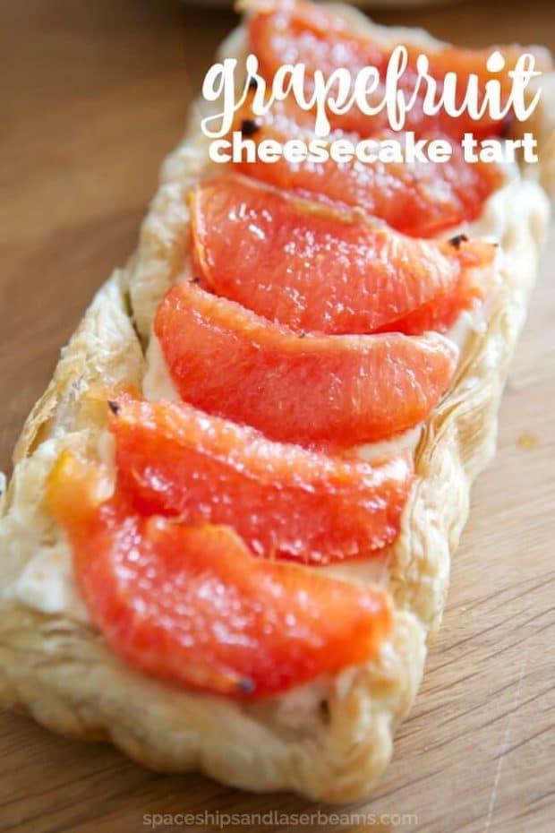 Grapefruit Cheesecake Tart