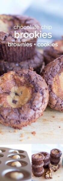 Chocolate Chip Cookie & Brownie Brookies