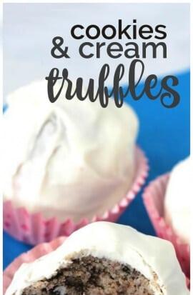 Cookies and Cream Truffles