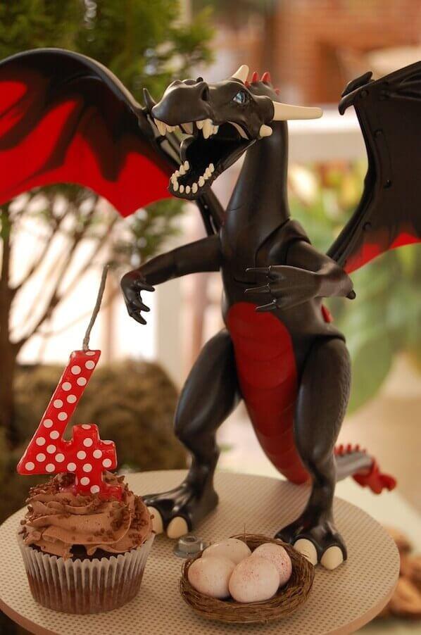 knight cake dinosaur
