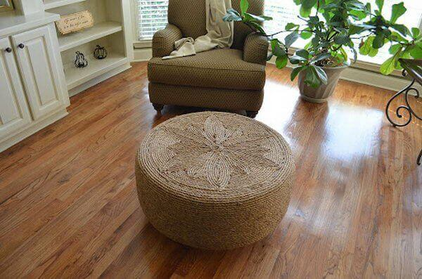 Diy Ottoman From Tire