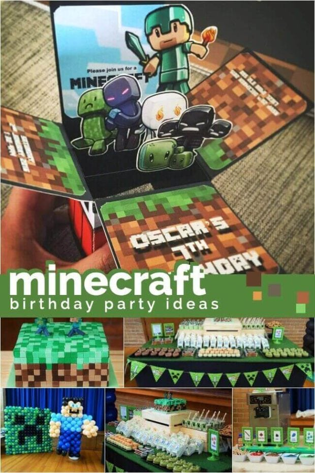 Boy's Minecraft Birthday Party
