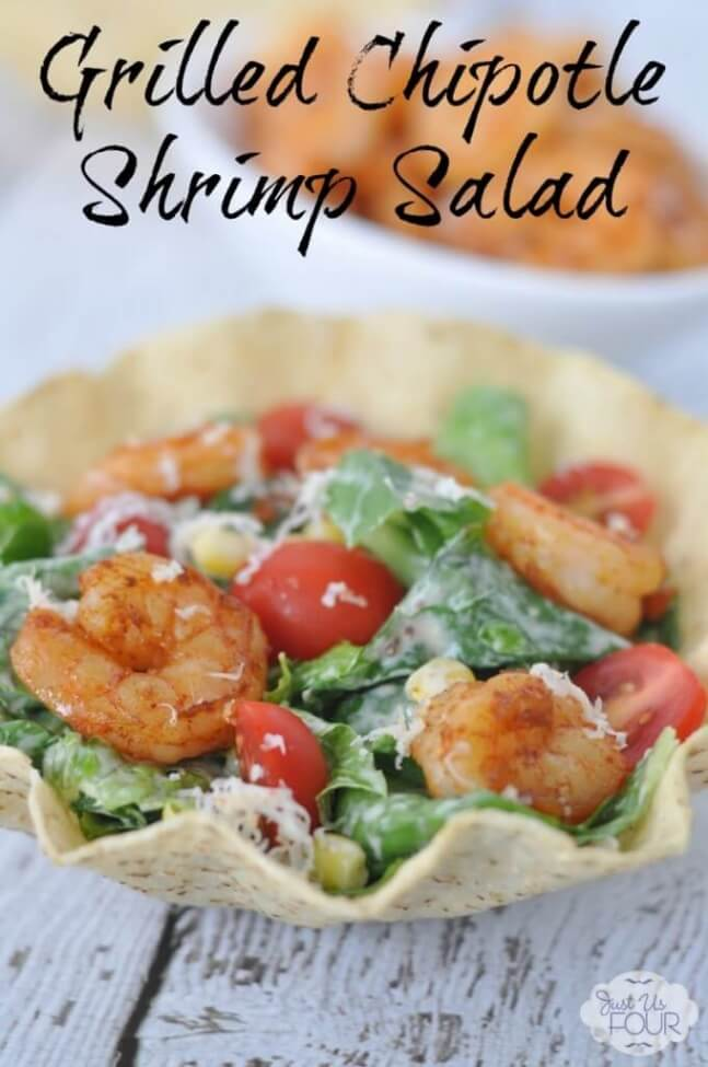 Grilled Chipotle Shrimp Salad