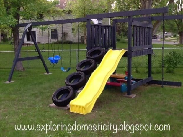 Swing Set Tire Ladder