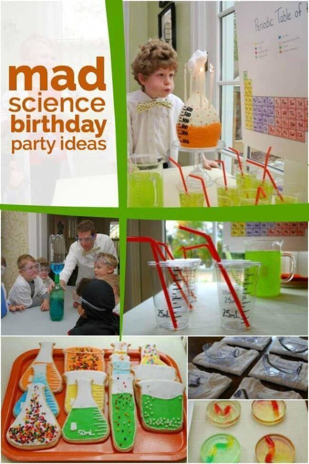 Boy's Mad Science Birthday Party