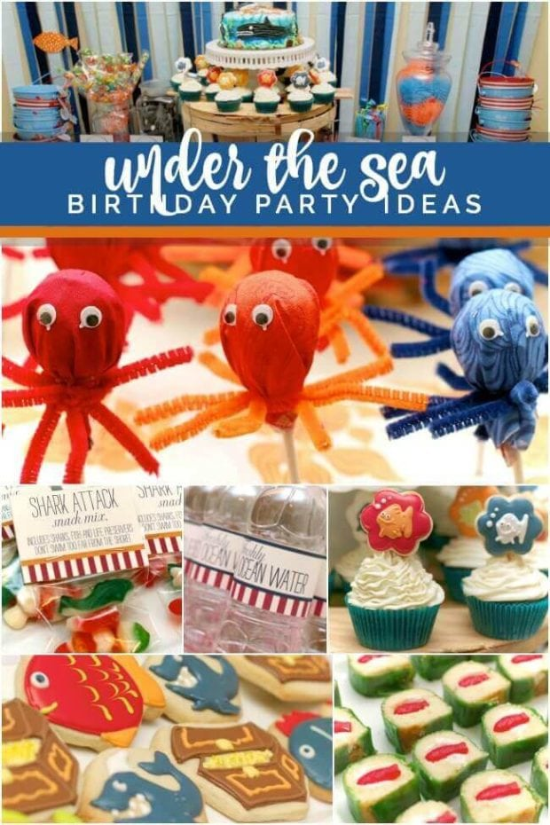 Boy's Under the Sea Themed Birthday Party