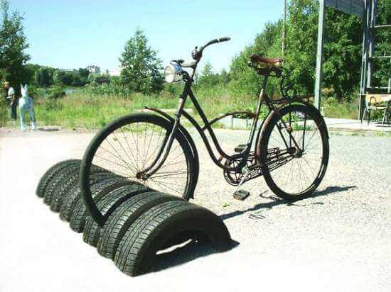 Tire Bike Stand Project Idea