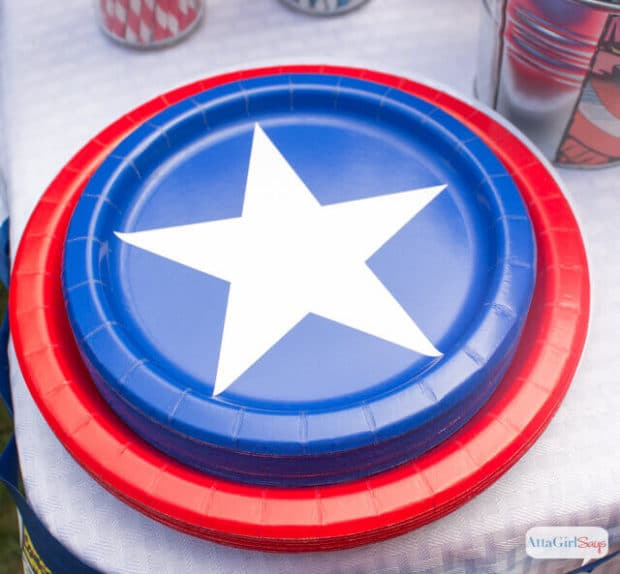 17 Captain America Plates Party Ideas