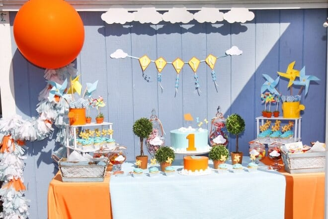 Kite and Pinwheels Birthday Party