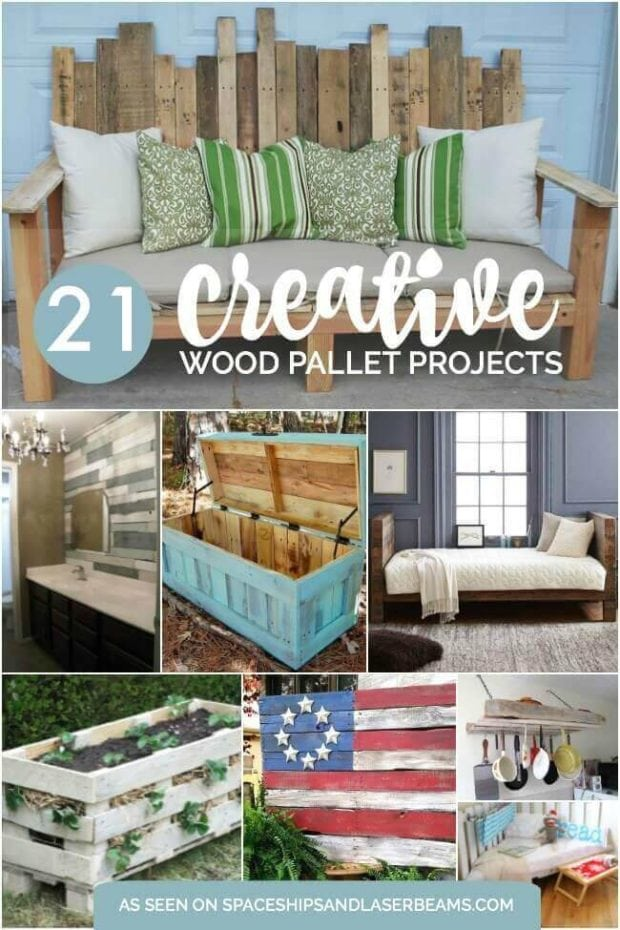 21 Creative Wood Pallet Projects - Spaceships and Laser Beams