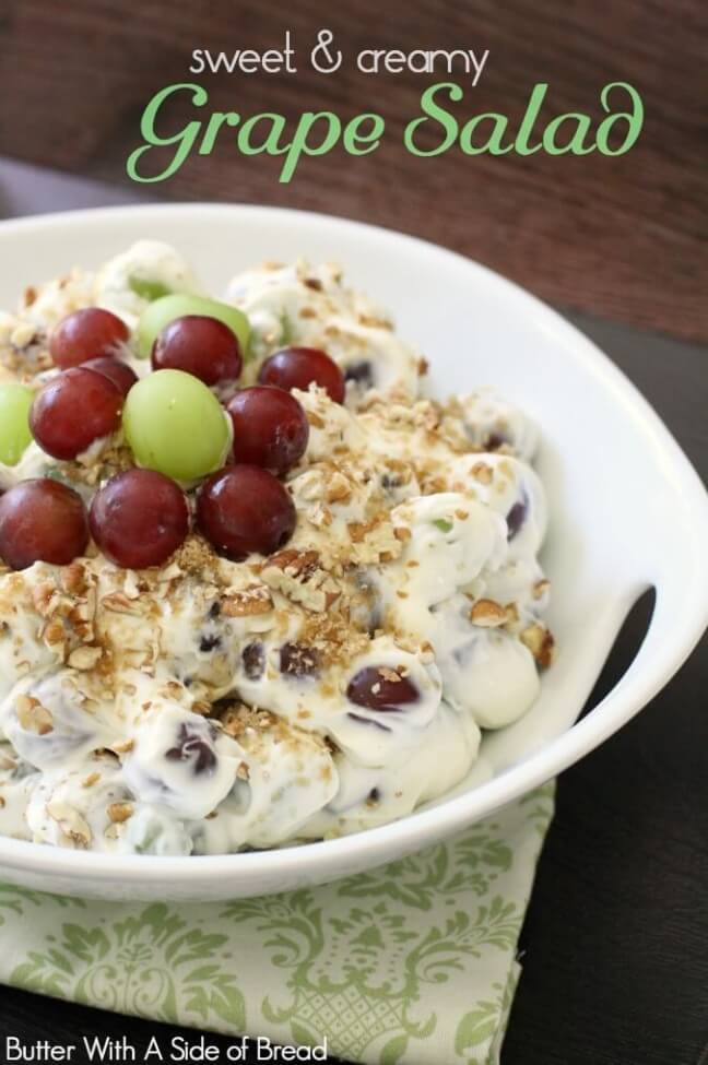 Sweet & Creamy Grape Salad