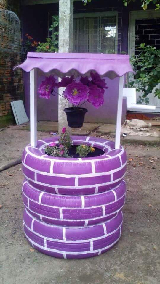 Tire Wishing Well Project Idea