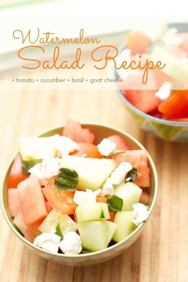 Watermelon Salad with Homemade Dressing