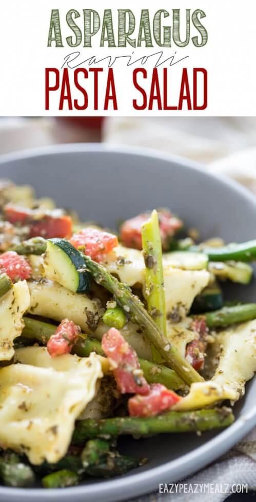 Asparagus Ravioli Pasta Salad