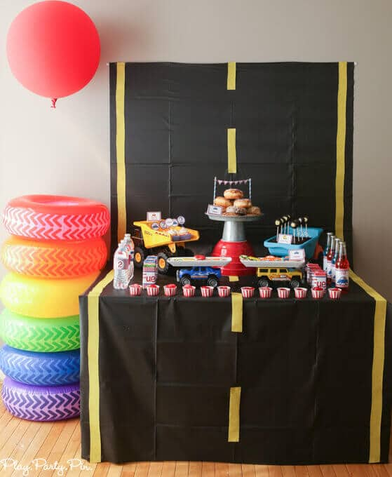 Pop a Wheelie Boy Birthday Party Ideas