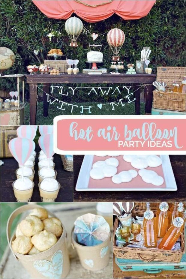 Boy's Vintage Hot Air Balloon Birthday Party