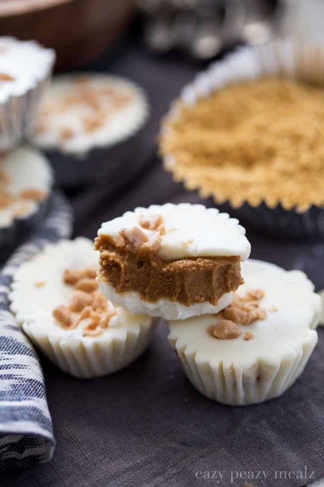 Easy White Chocolate Cookie Butter Cups
