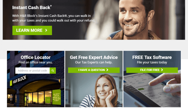 Instant Cash Back with H&R Block