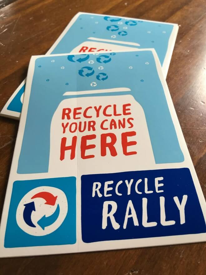 Recycle Rally Stickers