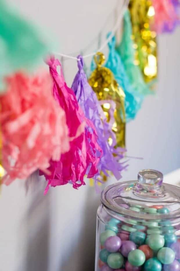Easy DIY Fringe Banner