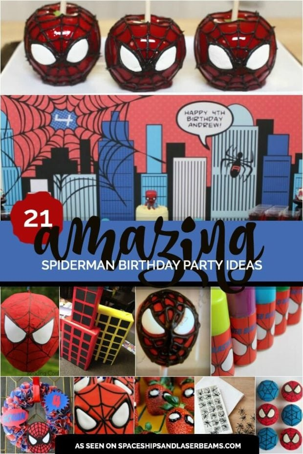 An Amazing Spiderman Boy S Birthday Party Spaceships And