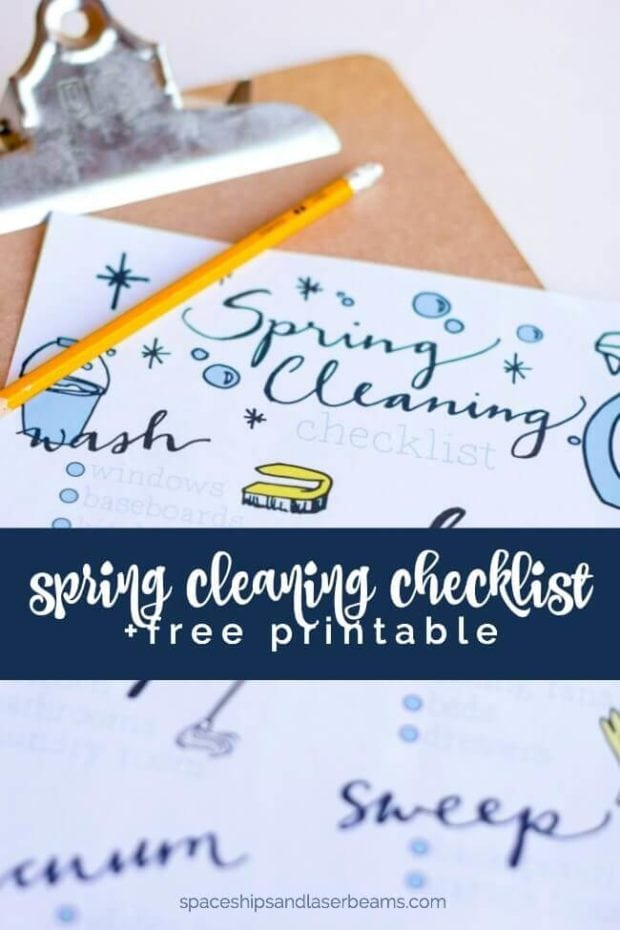 Free Spring Cleaning Printable Checklist