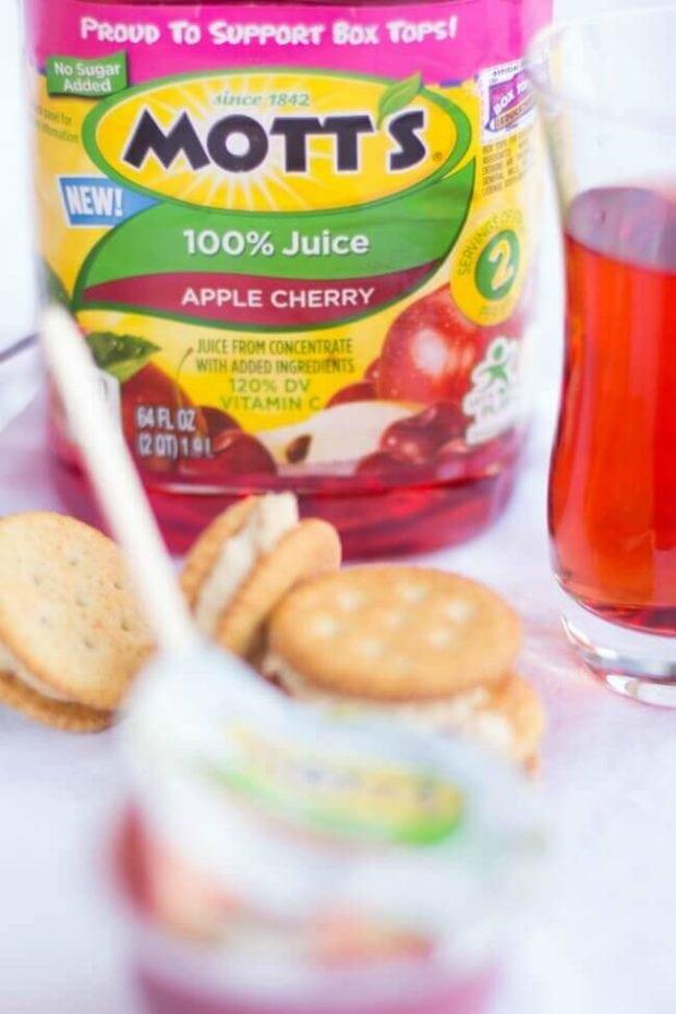 Mott's Apple Cherry Juice + Snacks