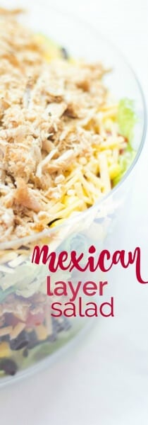 Easy Mexican Layer Salad
