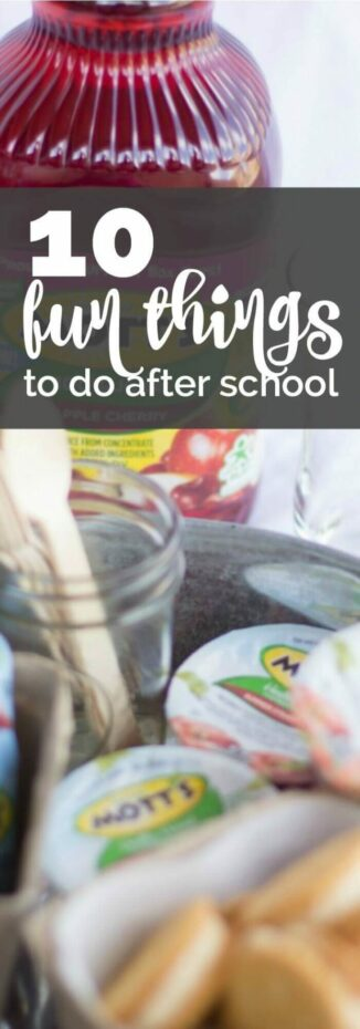 10 Fun Things To Do After School + a Snack Idea