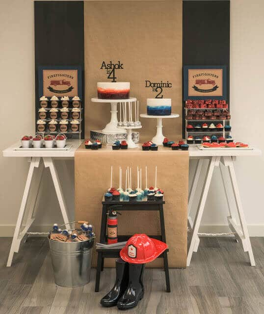 Boy's Firefighter Birthday Party Ideas