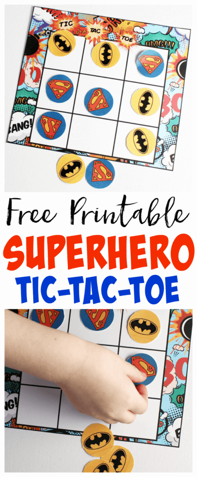 Superhero Tic Tac Toe Game